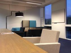 Interieur zakelijke markt, kantoor, Rijkswaterstaat locatie Westraven